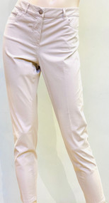Fabiana Filippi Cropped Skinny Pants with Pocket Embellishment in Natural