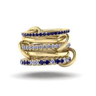 Spinelli Kilcollin Atlas Bleu Yellow Gold 5 Link Ring