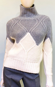 Fabiana Filippi Wool and Cashmere Color Block Sweater