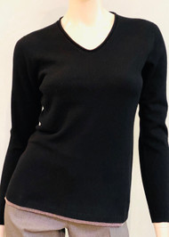 Fabiana Filippi Wool, Silk and Cashmere Pullover with Embellished Hem