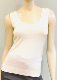 Lapointe Silk Cashmere Scoop Neck Tank in Ivory