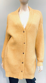 Lapointe Oversized Silk Cashmere Cardigan in Yellow