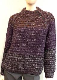 Iris Von Arnim Handknit Alpaca Button Neck Vanya Sweater