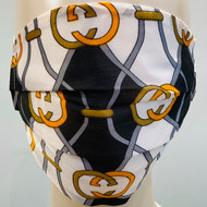 Face Mask - Gold/Grey/Orange