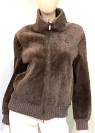 Fabiana Filippi High Neck Shearling Bomber Jacket