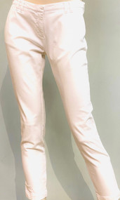Eleventy Slim Fit Cropped Pants in White