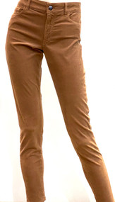 Iris Von Arnim Slim Fit Cropped Pants in Camel
