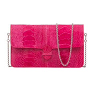 *TRUNK SHOW* Cape Cobra Leathercraft Accordion Crossbody Wallet in Lathyrus Ostrich Leg