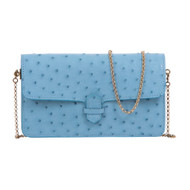 *TRUNK SHOW* Cape Cobra Leathercraft Accordion Crossbody Wallet in Blue Jay Ostrich