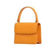 *TRUNK SHOW* Cape Cobra Leathercraft Mini Maxi Bag in Buttercup Ostrich