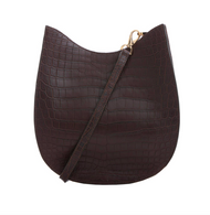 *TRUNK SHOW* Cape Cobra Leathercraft Capri Crossbody Bag in Chocolate Crocodile