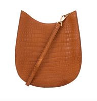 *TRUNK SHOW* Cape Cobra Leathercraft Capri Crossbody Bag in Luggage Crocodile