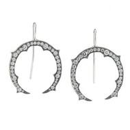 *PRE-ORDER* Sylva & Cie. Diamond Horseshoe Earrings