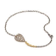 *TRUNK SHOW* Sylva & Cie. Champagne Heart Ten Table Double Wrap Bracelet