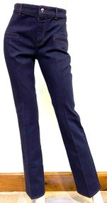 Altuzarra Stretch Cotton Denim Serge Pants in Berry Blue