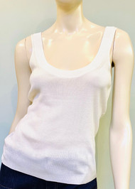 Altuzarra Ariana Ribbed Knit Sleeveless Top in Ivory