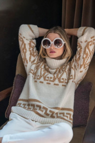 *PRE-ORDER* Hania Irish Sweater in Cream Hazelnut
