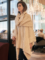 *PRE-ORDER* Hania Diamond Poncho in Cream
