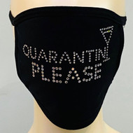*PRE-ORDER* Rhinestone Embellished Mask - Quarantini Please