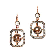 *TRUNK SHOW* Sylva & Cie. Window Earrings with Rose Cut Tops