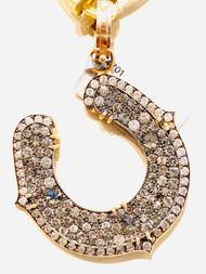 *TRUNK SHOW* Sylva & Cie. Grey and White Diamond Horseshoe Pendant