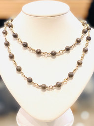 "*TRUNK SHOW* Sylva & Cie. 34"" Dolomite Necklace"