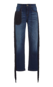 *PRE-ORDER* Hellessy Straight Leg Beau Jean with Fringe in Dark Wash