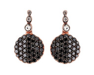 Selim Mouzannar Beirut Earrings in Pink Gold Set with Black and White Diamonds