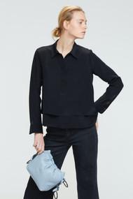 *PRE-ORDER* Dorothee Schumacher Fluid Volumes Silk Blouse in Black