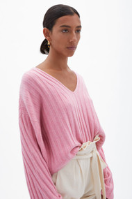 Jonathan Simkhai Zena Loungewear Knit Pullover in Camellia