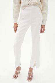 Jonathan Simkhai Antonella Woven Front Slit Crop Pants in White