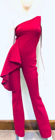 Chiara Boni La Petite Robe Amal Mesh One Shoulder Jumpsuit