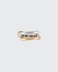 *PRE-ORDER* Spinelli Kilcollin Sonny Gold and Silver Micropavé Diamond 3 Link Ring