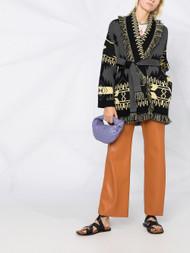 ALANUI Regenerated Icon Oversized Jacquard Cardigan in Mica Grey