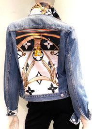 Designer Embellished Denim Jacket - LV Denim