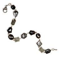 *TRUNK SHOW* Sylva & Cie. 18K White Gold Rough Diamond Bracelet