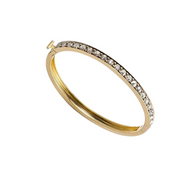*TRUNK SHOW* Sylva & Cie. 18K Yellow Gold and Grey Rose Cut Diamond Bangle