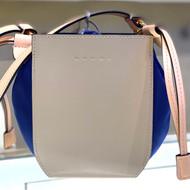 Marni Color-Block Gusset Shoulder Bag in Light Camel