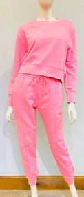 *PRE-ORDER* Jonathan Simkhai Niya Terry Sweatshirt Track Pants in Camellia Pink
