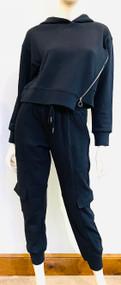 *PRE-ORDER* Jonathan Simkhai Azalea Terry Cargo Sweatpants in Black