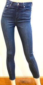 Jonathan Simkhai Rae Darted High Rise Ankle Skinny Jeans in Monterey Dark