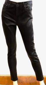 Jonathan Simkhai Rhys Mid Rise Coated Skinny Jeans in Coated Black