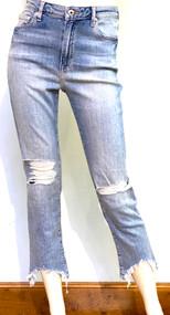 Jonathan Simkhai River High Rise Distressed Straight Jeans in Ojai Light