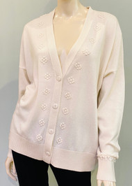 Barrie Flowers Timeless Cardigan in Niveous