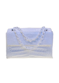 Nancy Gonzalez Madison Small Chain Shoulder Bag in White