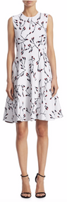 Carolina Herrera Floral Short Knit Dress