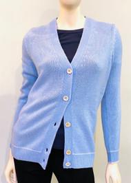 Marni V-Neck Cashmere Cardigan in Powder Blue