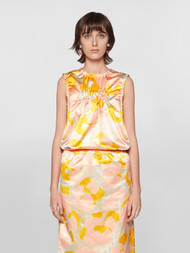 *COMING SOON* Marni Puckered Abstract Print Cotton Top in Maize