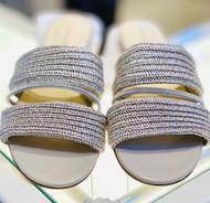 Fabiana Filippi Double Band Embellished Sandals