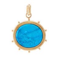*TRUNK SHOW* Sylva & Cie. 18K Yellow Gold Pompei Angel Intaglio Pendant
